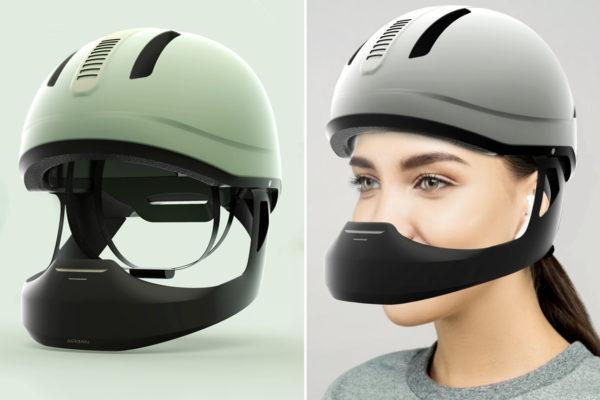 Mũ bảo hiểm với bộ lọc tiên tiến đảm bảo luồng không khí trong lành khi đang lái xe