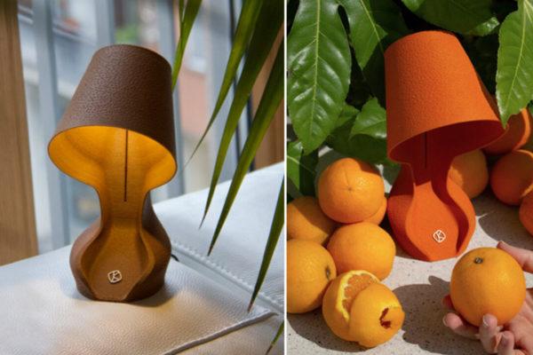 Ohmie: Chiếc đèn in 3D hình tròn làm từ vỏ cam độc đáo