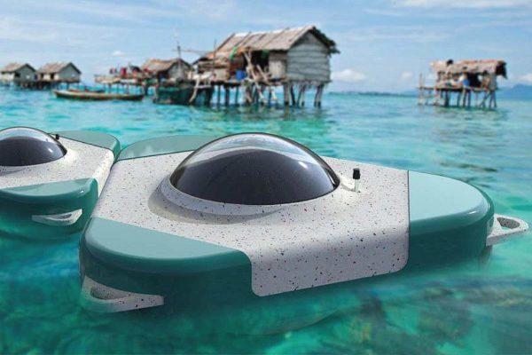 Waterpod: Chuyển đổi nước biển thành nước uống thông qua quá trình mô tả tự nhiên
