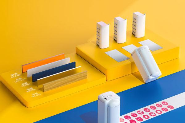 DIY PrintPods EVEBOT PYB-M : Máy in bỏ túi cầm tay in được trên mọi bề mặt kể cả da
