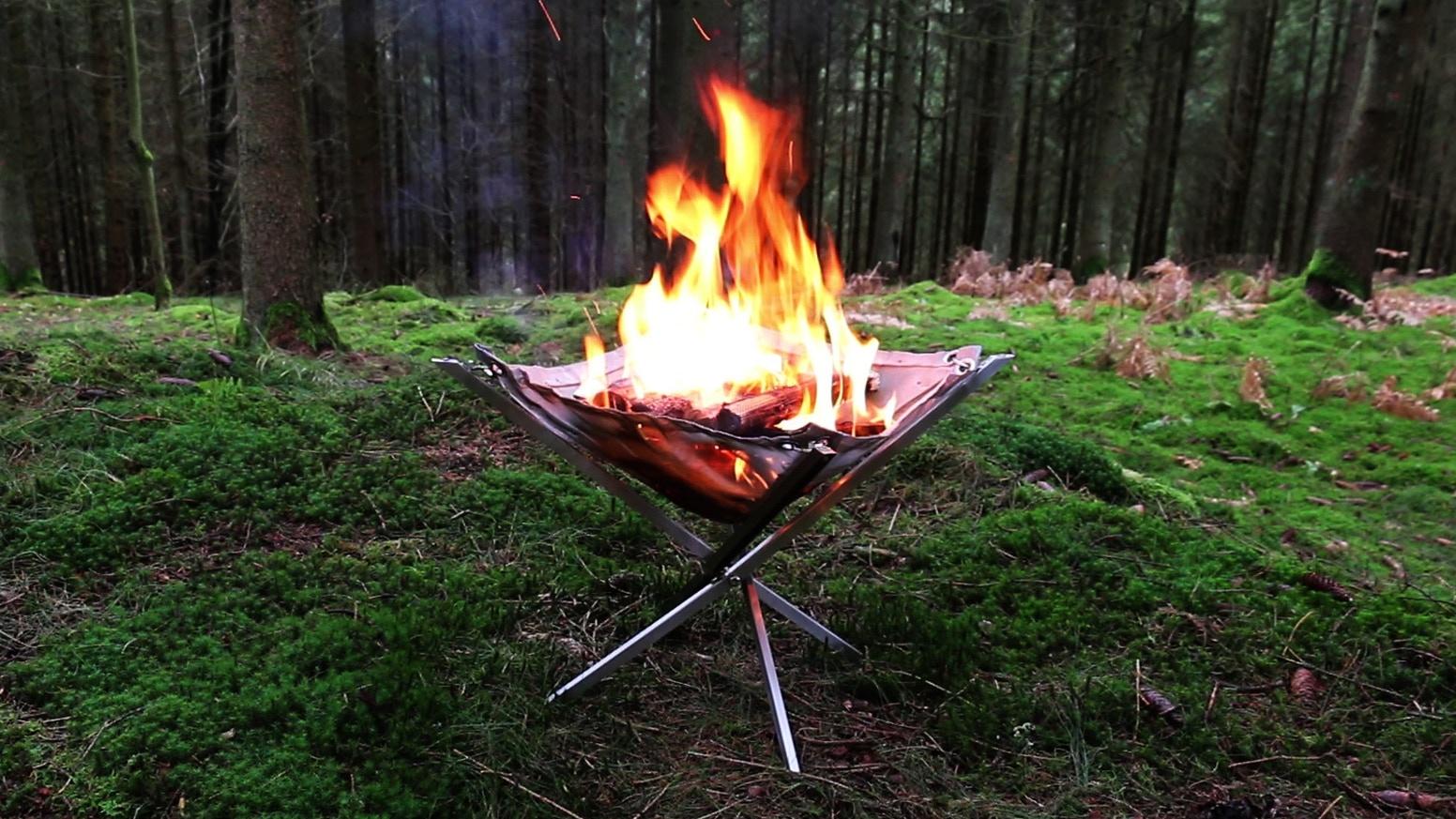 Folding Fire : Lò nướng than gấp gọn di động – Hơn cả sự tiện dụng